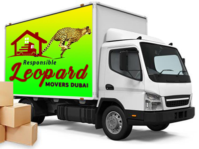 Leopard movers truck